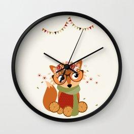 Renarde automnale Wall Clock