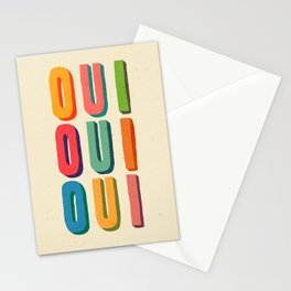 Oui oui oui Stationery Cards