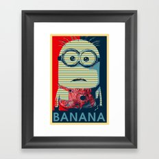 Minion banana Framed Art Print