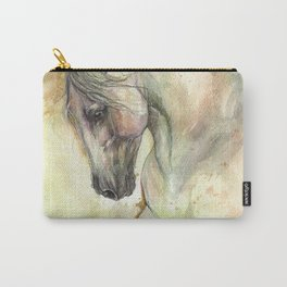 Horse watercolor art Carry-All Pouch
