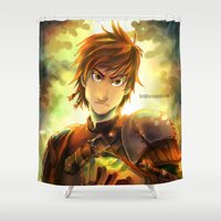 hiccup Shower Curtains featuring Hiccup by keiden