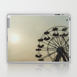 Ferris wheel in a Luna Park shortly before sunset in autumn Laptop & iPad Skin