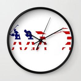 American flag - american golf Wall Clock