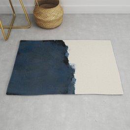 Abstract, blue, beige, indigo Rug