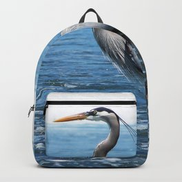 Great Blue Heron on the Pacific Coast in Costa Rica Backpack