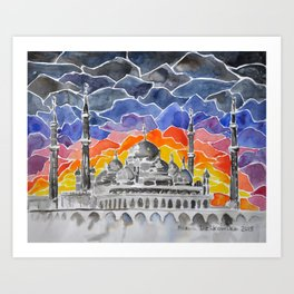 Masjid Kristal Mosque, Kuala Terengganu, Malaysia Art Print