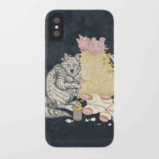 Big Bad Wolf Only Needed a Needle iPhone Case