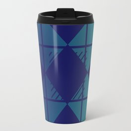 Blue,Diamond Shapes,Square Travel Mug