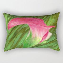 Pink Cala Lilly Rectangular Pillow