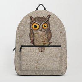Great horned owl on cardboard Backpack