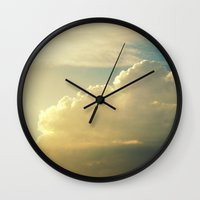 cloud Wall Clocks featuring Cloud by Magic Emilia