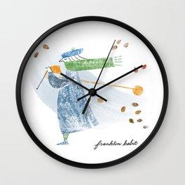 Autumn Knitter Wall Clock