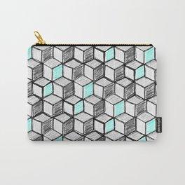 3D Cubes Doodle Carry-All Pouch