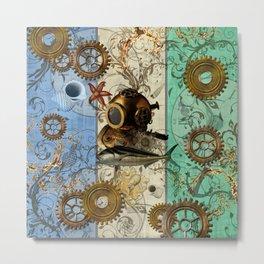 Nautical Steampunk Metal Print