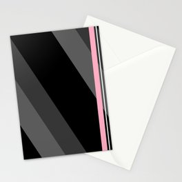 Thin And Thick Lines - Pink Stationery Cards