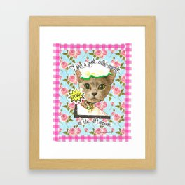 I love a good collie-shangle in the afternoon handcut collage Framed Art Print
