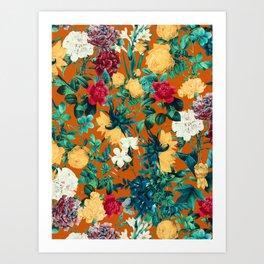Orange Garden Art Print