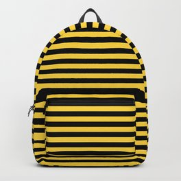 Even Horizontal Stripes, Yellow and Black, S Backpack