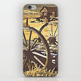 Wagon Wheels of the Old West iPhone Skin