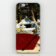 Red boat iPhone & iPod Skin