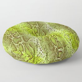 bright lime snake skin in ombre Floor Pillow