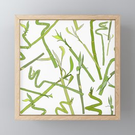 Scattered Bamboos Framed Mini Art Print