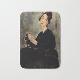 "Amedeo Modigliani ""Portrait of Dedie"" Bath Mat"