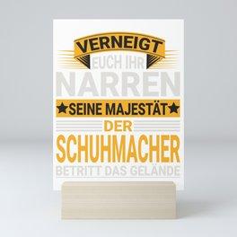 Schuhmacher Design für einen  Schuhmacher Mini Art Print