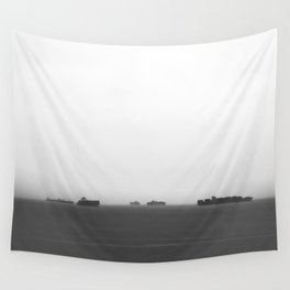 Foggy Port Wall Tapestry