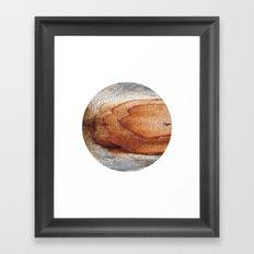 Planetary Bodies - Rust Wood Framed Art Print