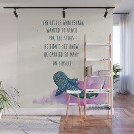 little whaleshark between stars Wall Mural