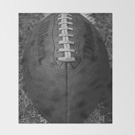 Big American Football - black &white Throw Blanket