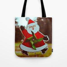 Santa greetings Tote Bag