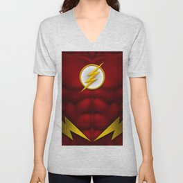 Flash: Superhero Art Unisex V-Neck
