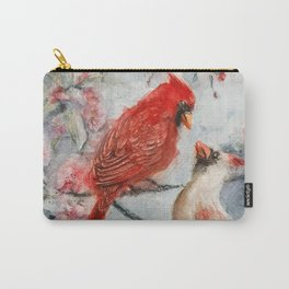 Cardinals in love watercolor Carry-All Pouch