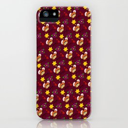 Hammy Pattern in Burgandy / Deep Red iPhone Case