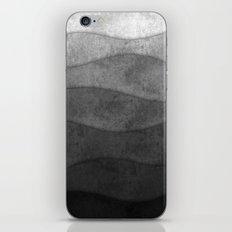 Monochrome waves Abstract modern art iPhone & iPod Skin