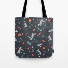 Spaceships, planets and Astronaut Tote Bag