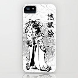 地獄絵 Jigokue Poster iPhone Case