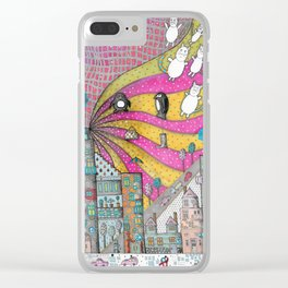 """""""Kittens""""  Illustrated print Clear iPhone Case"""