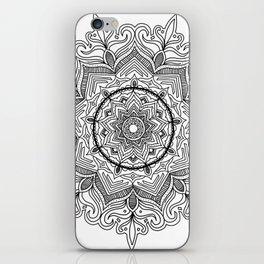 Black Flower Mandala iPhone Skin