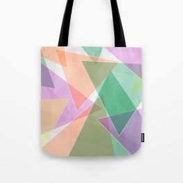 Abstract pattern with triangles and vibrant colors Tote Bag