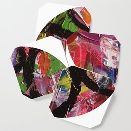 Whirl Abstract Art Coaster