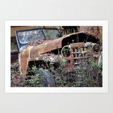 Vintage Jeep Art Print