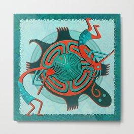 Visitors Anasazi Folk Art Metal Print