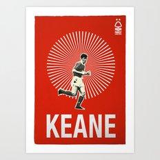 Nottingham Forest Legends Series: Roy Keane Graphic Poster Art Print