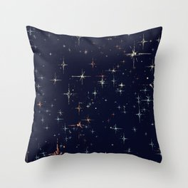 Deep Blue Starscape Stylized Throw Pillow
