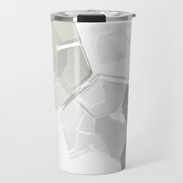 White Fractal Travel Mug