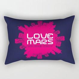 Love Mars Rectangular Pillow