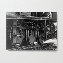 Workhorse At Rest B/W Metal Print